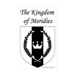 Kingdom of Meridies Rectangle Sticker 50 pk)