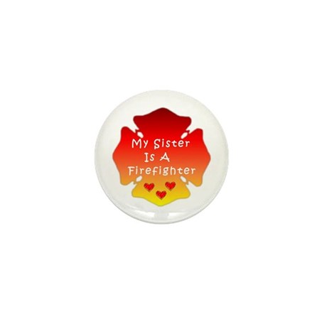 Firefighter Sister Mini Button (10 pack)