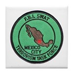 FBI SWAT Mexico City Tile Coaster