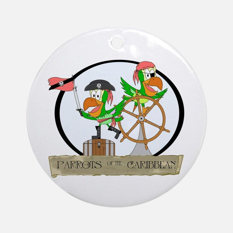 Parrots of the Caribbean Keepsake (Round)