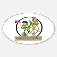 Parrots of the Caribbean Oval Decal