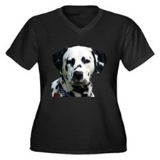 Jester Women's Plus Size V-Neck Dark T-Shirt