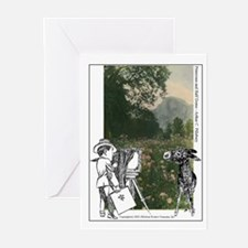 AC, Winkey & Primroses  Note Cards (Package of