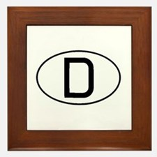German Oval Framed Tile