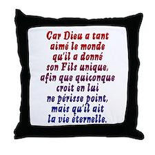 John 3:16 French Throw Pillow
