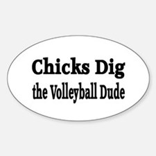 Volleyball Oval Decal