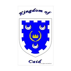 Kingdom of Caid Rectangle Sticker 10 pk)