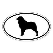 Australian Shepherd Oval Sticker (10 pk)