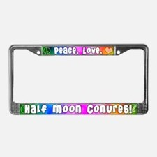 Hippie Half Moon Conure License Plate Frame