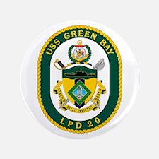 """USS Green Bay LPD 20 3.5"""" Button"""