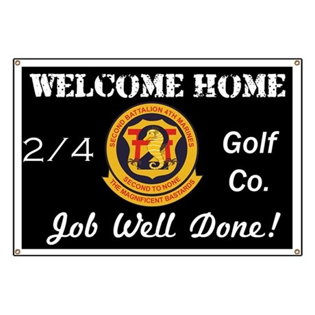 Welcome Home Banner 2/4 Golf