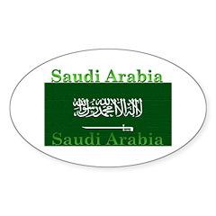 Saudi Arabia Arabian Flag Oval Decal
