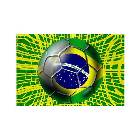 Brasil Futebol Goal Rectangle Magnet