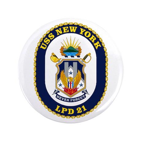 "LPD 21 New York 3.5"" Button"