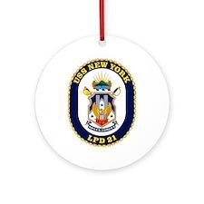 LPD 21 New York Ornament (Round)