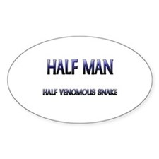 Half Man Half Wasp Oval Decal