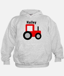 Hailey - Red Tractor Hoodie