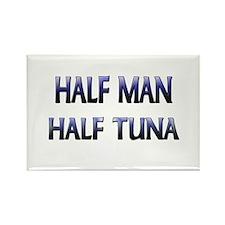 Half Man Half Tuna Rectangle Magnet
