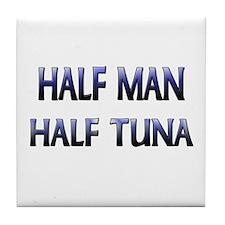 Half Man Half Tuna Tile Coaster