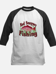 Red Snapper Fishing Kids Baseball Jersey