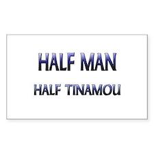 Half Man Half Tinamou Rectangle Decal