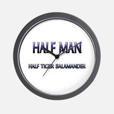 Half Man Half Tiger Salamander Wall Clock