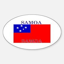 Samoa Samoan Flag Oval Decal
