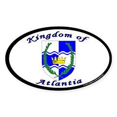 Atlantia Oval Sticker (10 pk)