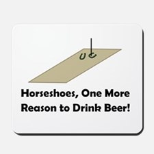 Horseshoes and Beer Mousepad