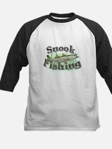 Snook Fishing Kids Baseball Jersey