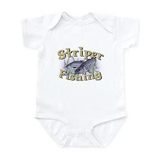 Striper Fishing Infant Bodysuit