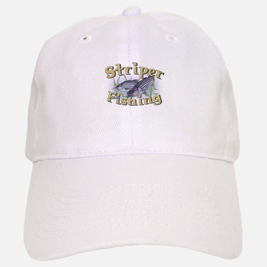 Striper Fishing Baseball Baseball Cap