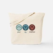 Peace Joy Sisterhood Tote Bag