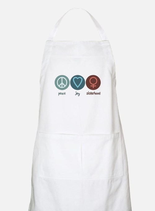 Peace Joy Sisterhood BBQ Apron