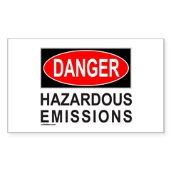 DANGER Rectangle Sticker 10 pk)