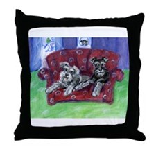 Schnauzer Mooove Over Throw Pillow