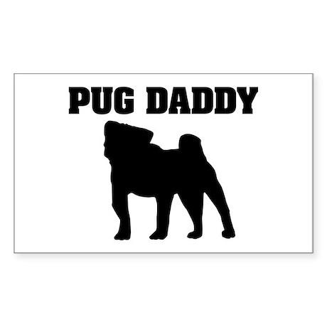 Pug Daddy Rectangle Sticker