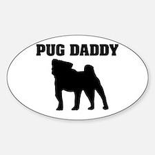 Pug Daddy Oval Decal