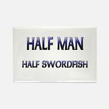 Half Man Half Swordfish Rectangle Magnet