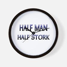 Half Man Half Stork Wall Clock
