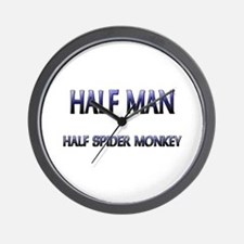 Half Man Half Spider Monkey Wall Clock