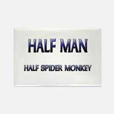 Half Man Half Spider Monkey Rectangle Magnet