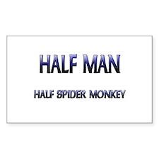 Half Man Half Spider Monkey Rectangle Decal
