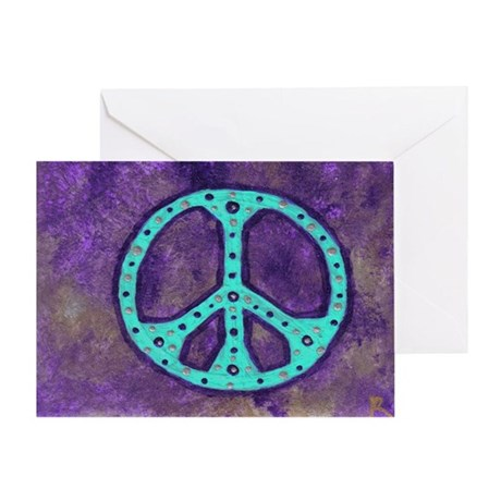 Purple Peace - Greeting Card