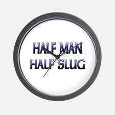 Half Man Half Slug Wall Clock
