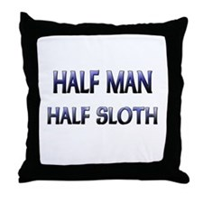 Half Man Half Sloth Throw Pillow