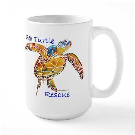 Sea Turtle Rescue 1 Large Mug