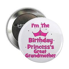 "1st Birthday Princess's Great 2.25"" Button"