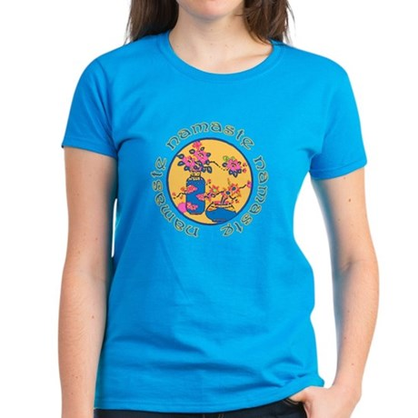 Illustrated NAMASTE Yoga Women's Dark T-Shirt