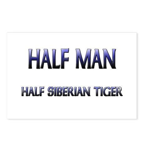 Half Man Half Siberian Tiger Postcards (Package of